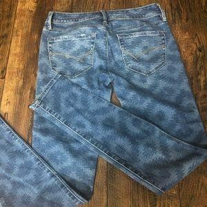 Bullhead Black Super Skinny Jeans Boho Print 1